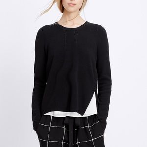 Vince Black sweater with zipper detail
